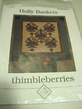 HOLLY BASKETS Thimbleberries Quilt Instructions 50 x 50""