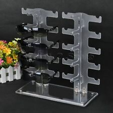10 Pairs Eyeglass Sunglasses Storage Stand Display Rack Holder Organizer Case