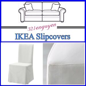 IKEA HENRIKSDAL BLEKINGE WHITE LONG CHAIR COTTON Slipcover Cover 701.546.78