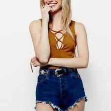 FREE PEOPLE Emmy Lou NWOT Lace Up Tank Top Women's XS RRP $76