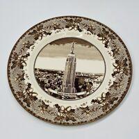 "Vintage JOHNSON Bros Historic America 10 3/4"" Empire State Building Plate (SHF)"