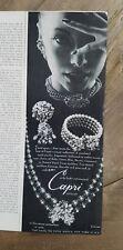 1958 Capri Exotique necklace bracelet earrings jewelry vintage ad