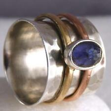 Iolite Spinner Sterling Silver Handcrafted Rings