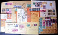 Repubblica -Storia Postale - Segnatasse - Lotto da 50  buste del settore