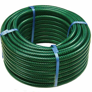 Garden Hose Pipe Reinforced Watering Hosepipe Reel Outdoor Green 30M 50M 100M UK