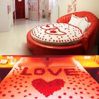 100pc artificielle pétales de rose en soie pour la noël décor de fête de mariage