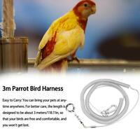 3m Flexible Parrot Bird Leash Harness Anti-Bite Outdoor Flying Training Rope
