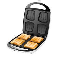 UNOLD 48480 Sandwich Toaster Quadro White-Stainless Steel Back Light 1.100 Watt