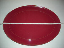 """Denby Oval Serving Platter Plate 14 1/2"""" Red Mulberry Rasberry Wine Used"""
