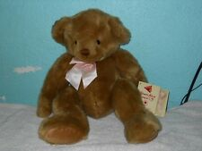 DAKIN APPLAUSE BROWN BEAR BREAST CANCER AWARENESS DOLL