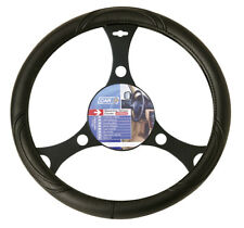 Van Truck Steering Wheel Cover Glove Black PVC 42cm Universal Easy Fit Ergonomic