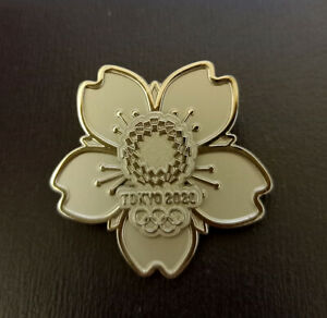 Tokyo 2020 olympic cutout silver pins