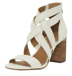 Lucky Brand Womens Sassy Vyrah Ivory Leather Heels 81/2 $240