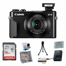 Canon PowerShot G7 X Mark II Digital Camera Package 16GB SDHC Mini Tripod