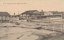 WALLOON LAKE , Michigan , 1900-10s ; Steamboat Landing
