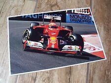 Photo / Photograph Kimi Raikkonen FERRARI SF 14T  Monaco 2014 //
