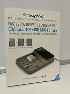 TYLT 10W Qi Wireless Charging Tray - Gray Never used