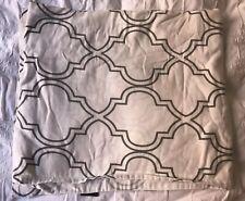 Cynthia Rowley Gray and White Quatrefoil Shower Curtain - 100% Cotton