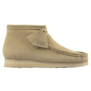 NEW IN BOX! MENS CLARKS Wallabee Boot Maple Suede CASUAL 26155516 SIZE 7.5-13