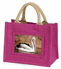 Pelican Print Little Girls Small Pink Shopping Bag Christmas Gift Ab-68bmp