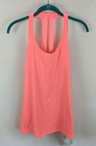 Fabletics NWT Women's Small Florence Performance Tank Neon Pink Strappy Active