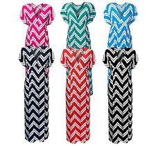Polyester Summer/Beach Striped Dresses for Women