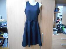 Zara Black Pinafore Style Dress - Sleeveless/A-Line Skirt - Belt - UK8