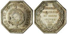 NOTAIRE  DE  COSNE  ,  NIEVRE  ,  1835  ,  ARGENT  ,  SUPERBE  ,  POINÇON MAIN