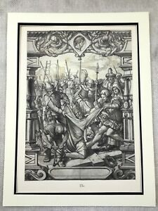Antique Print Rare Holbein the Younger Stained Glass Panel Passion of Christ