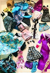 monster high doll clothes lot used