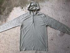 Lululemon Men's Metal Vent Tech Hoodie Medium Beige Tan Zip Long Sleeve Shirt