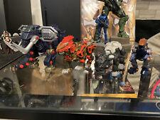 Hasbro Zoids Action Figure Lot Of 4 Blade Liger Dark Horn Elephander Gun Sniper