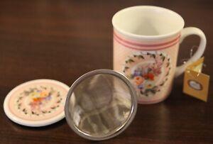 Teetasse Cha Cult aus Porzellan mit Deckel und Sieb oder Espresso Tassen Set