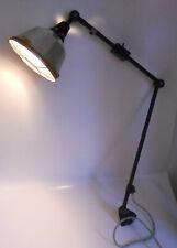 Midgard R2 Werkstattlampe Industrie Design Emaille Loft Gelenkarmlampe Gitter !