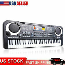 Electric Piano Electronic Keyboard Music Organ Instrument Early Education Bw