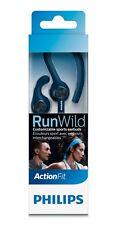Philips ActionFit runwild Cable recubierto de Kevlar Deportes Auriculares Azul IPX4 Nuevo