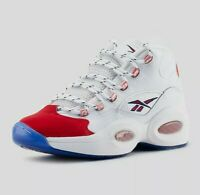 Reebok Men's Shoe Question Mid 25th Anniversary Suede Toe Allen Iverson Size 9.5