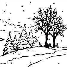 Prägefolder Embossing-Schablone Winterlandschaft Weihnacht Nellie Snellen PIF013