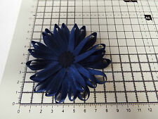 UK-Large,Navy  Blue- Satin Ribbon Flowers- Appliques,Trimmings ,Wedding 90mm x 1