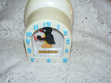 Pingu  Penguin  Wesco Clock  In Shape Of Igloo Fully Working With Sound BBC 1992