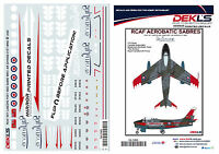 Decals Canadair Sabre - RCAF Sky Lancers Aerobatic Team Post 1956 1/72 Scale