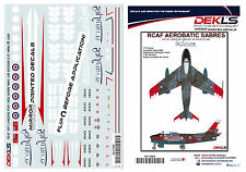 Decals Canadair Sabre - RCAF Sky Lancers Aerobatic Team Post 1956 1/72 Scale