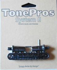 T3BT-B TonePros Metric (Metric Thread) Tune-O-Matic Bridge, Black Finish