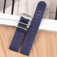 20/22mm Steel Buckle Army Nylon Canvas Watch Strap Band Fabric  Bracelet 5 Color