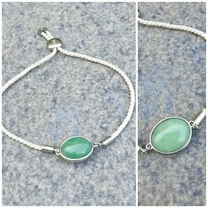 Vintage Green Stone Double Side Bracelet Bangle Womens Jewellery