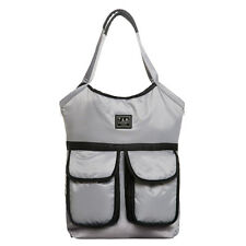 New Luxury 7Am Voyage Enfant Barcelona Diaper Bag in Gray with black trim