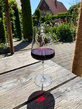 Rotweinglas individuelle Gravur Doppelherz mit Wunschnamen