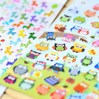 Cute Lovely 3D Bubble Stickers Kawaii Cartoon Animal Sticker Kids Toy Gift THQ