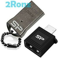 Silicon Power T01 Mobile 64GB 64G USB Flash Drive Disk Android Metal+OTG Adapter