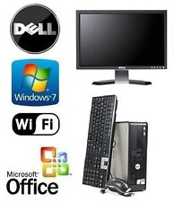 "DELL CORE 2 DUO 8GB 1TB WINDOWS 7 +MS OFFICE DESKTOP PC COMPLETE WITH 19"" SCREEN"